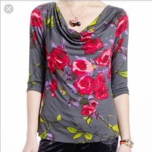 Weston Wear Blooming Roses Blouse Made In USA